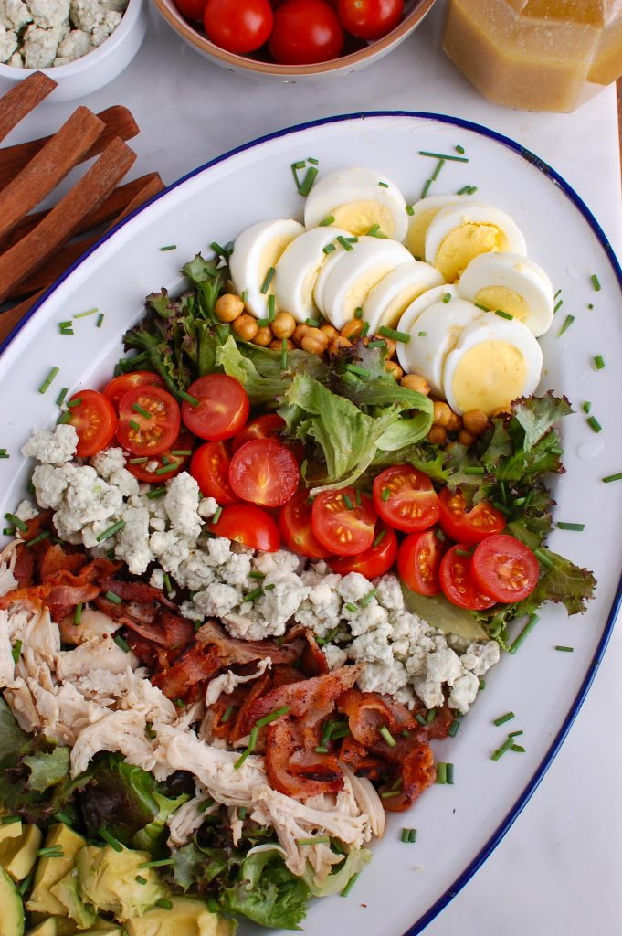 Cobb Salad with eggs
