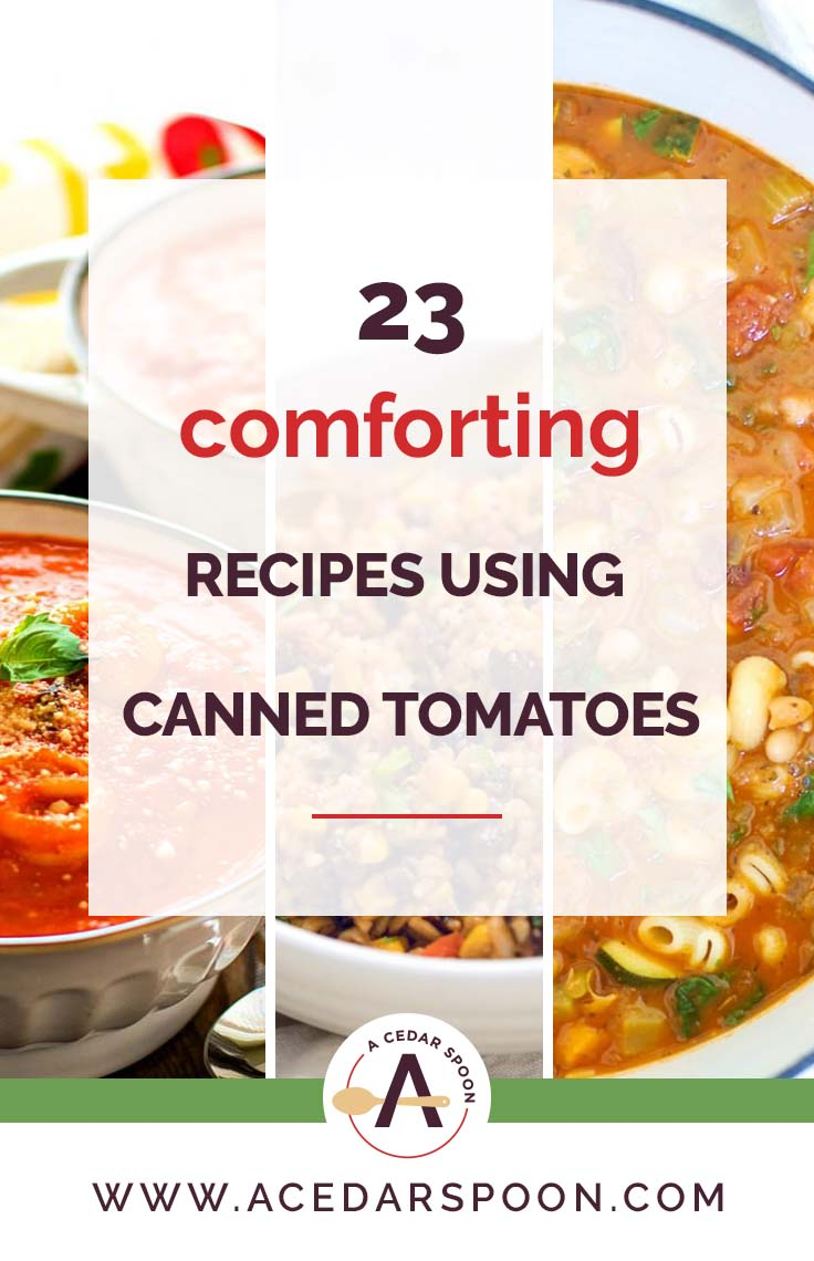 23 Comforting Recipes Using Canned Tomatoes Collage