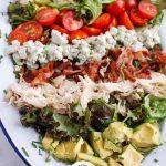 Cobb Salad Recipe Collage