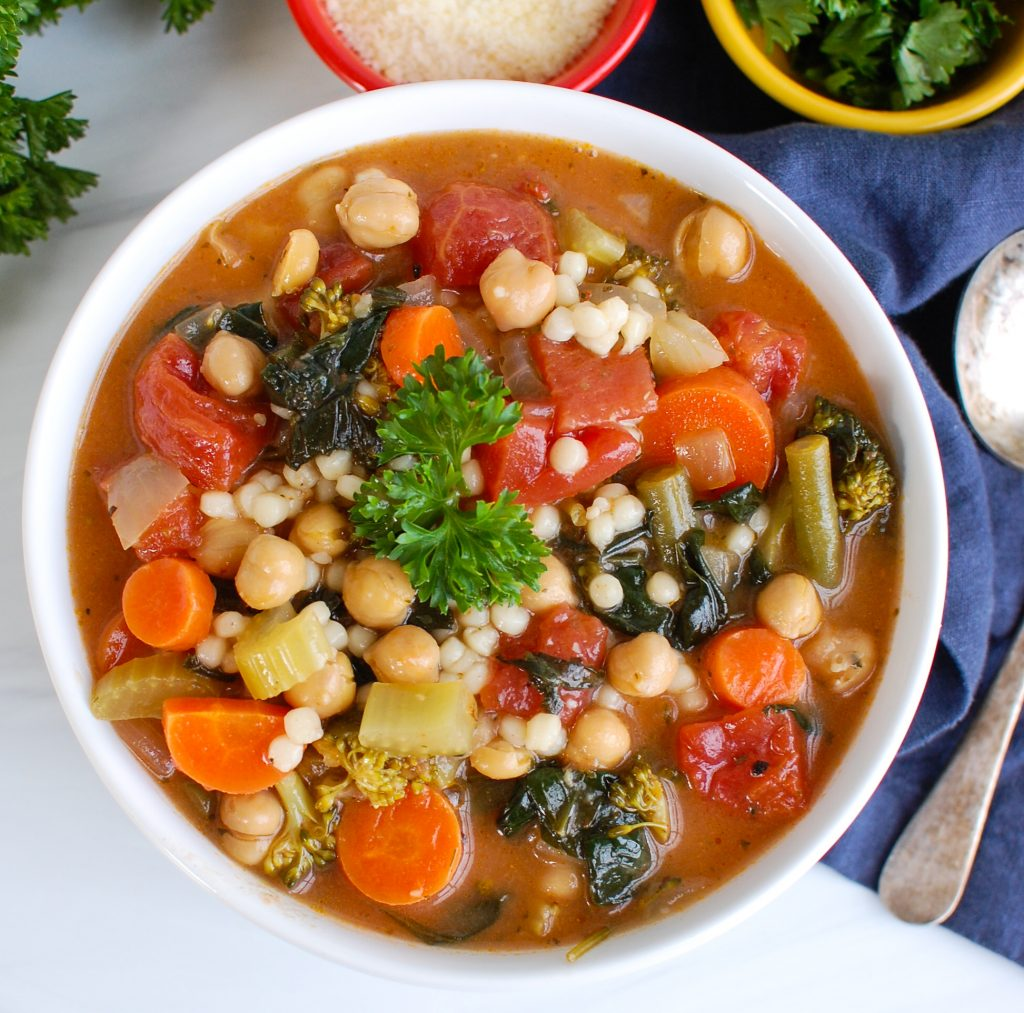 Easy Chickpea Soup above view