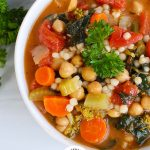 Easy Chickpea Soup with logo