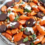 Roasted Carrots and Beets with Tahini with Logo