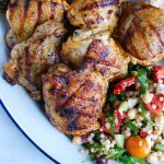 Grilled Chicken Thighs with Greek Marinade