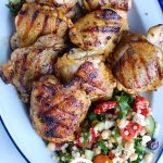 Grilled Chicken Thighs with Greek Marinade Logo