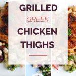Grilled Greek Chicken Thighs Collage2