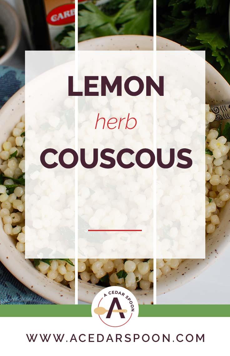 Lemon Herb Couscous with Logo 1