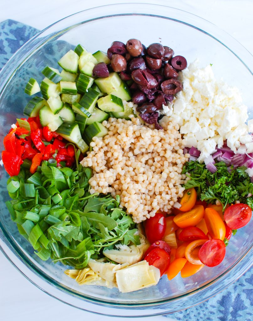 Mediterranean Couscous Salad ingredients
