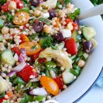 Mediterranean Couscous Salad with Logo