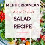 Mediterranean Couscous Salad Collage
