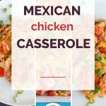 Mexican Chicken Casserole Collage