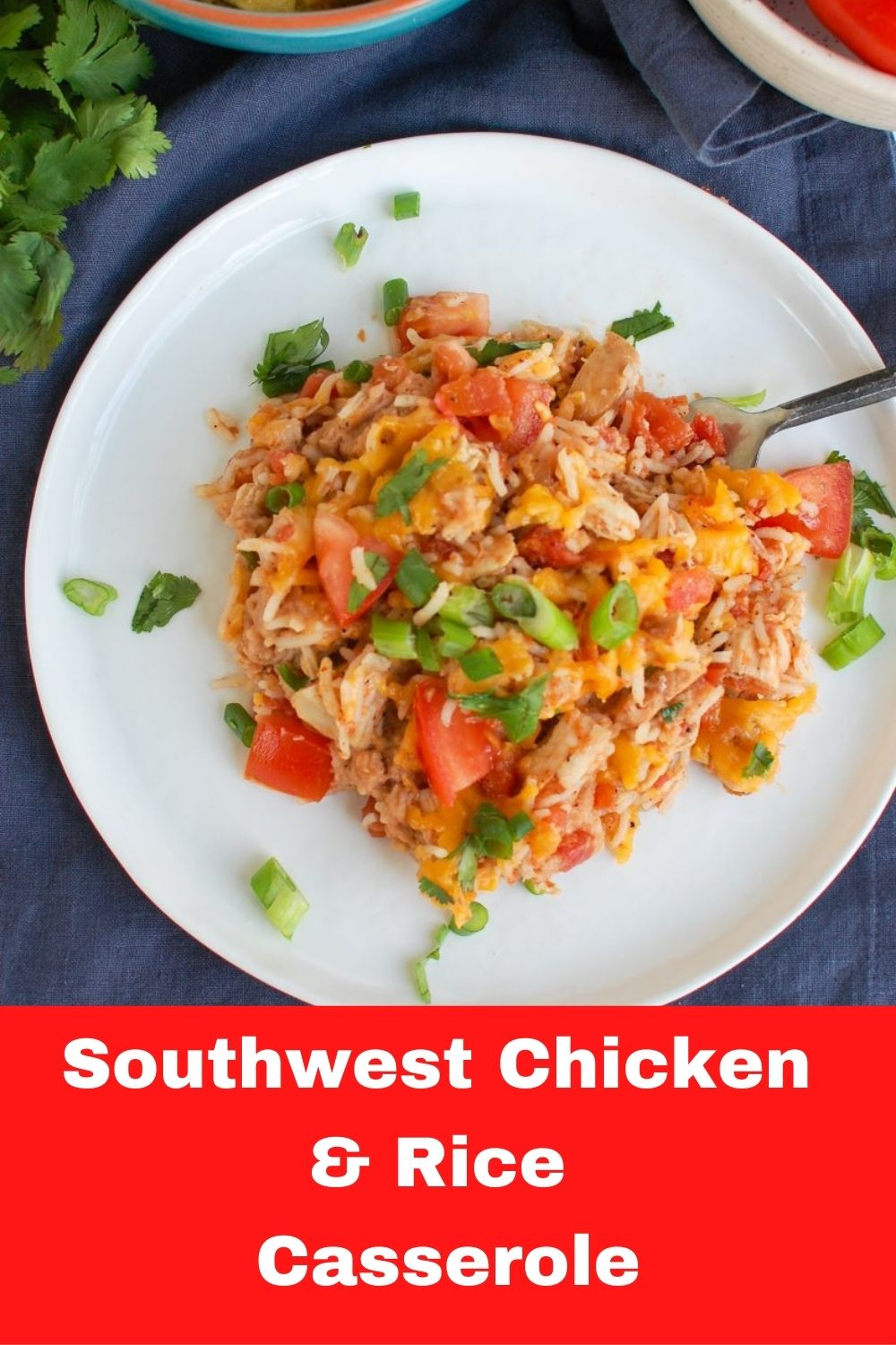 Mexican Chicken and Rice Casserole with logo.