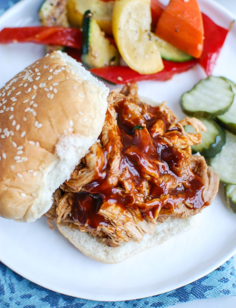 Slow Cooker Pork Roast with bun