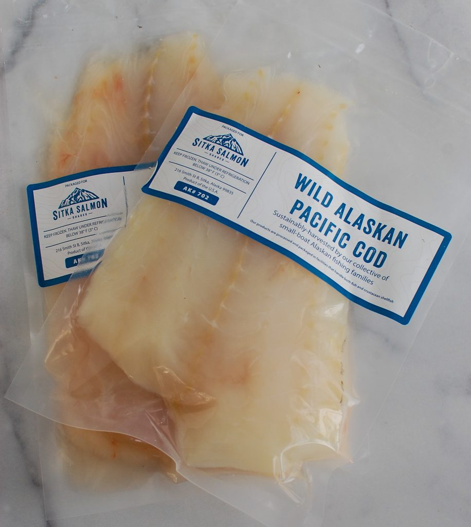 Easy Cod Fish Tacos in packaging