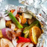 Sausage and Shrimp Foil Packets
