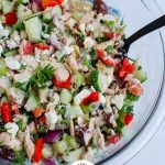 Mediterranean Tuna Salad with Logo