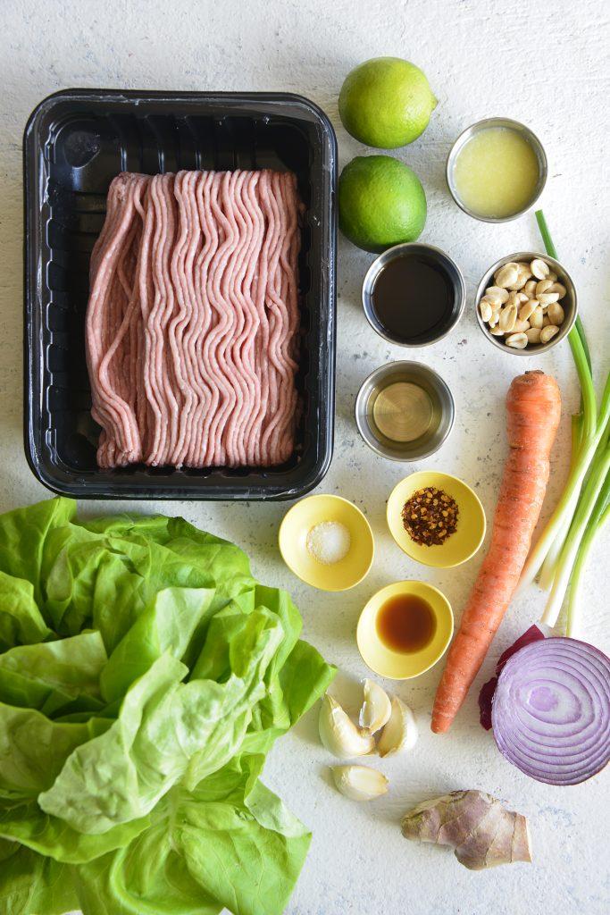 Thai Turkey Lettuce Cups ingredients