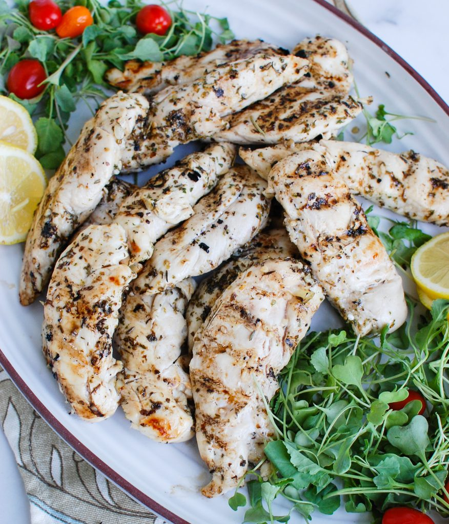 Lemon Marinade for Chicken with greens
