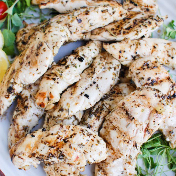 Lemon Marinade for Chicken on platter
