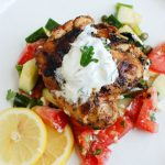 Greek Marinated Chicken with Tzatziki Sauce