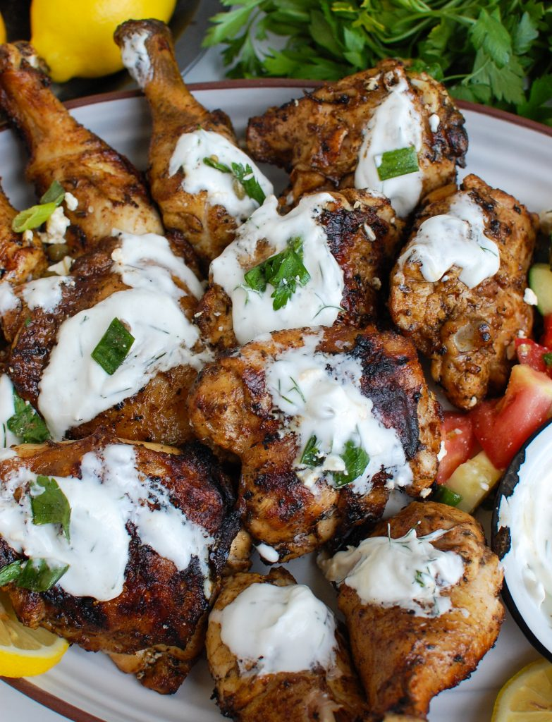 Greek Marinated Chicken with Tzatziki with yogurt