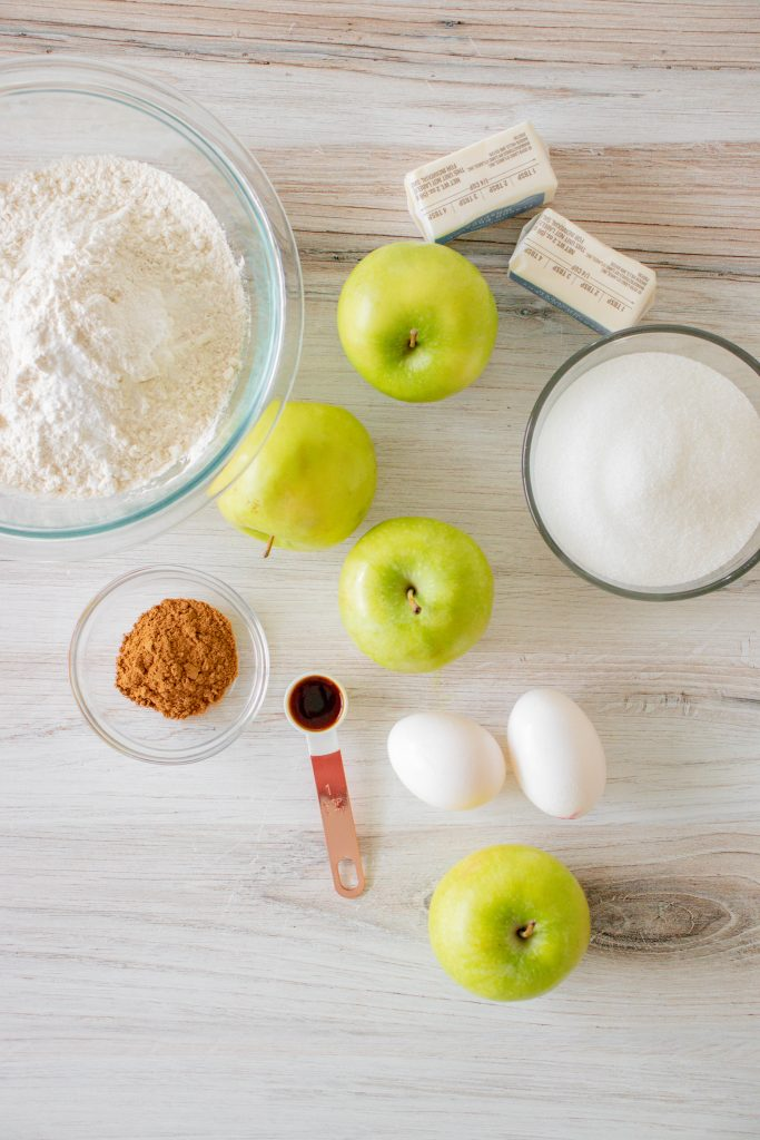 Apple Bars with Pumpkin Pie Spice Icing ingredients