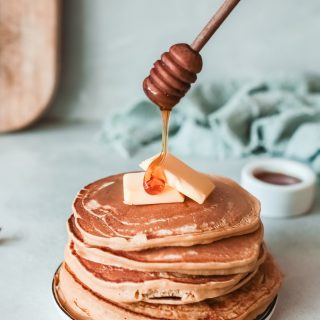 Apple Pancakes with honey