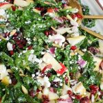 Easy Fall Salad with gold serving spoons
