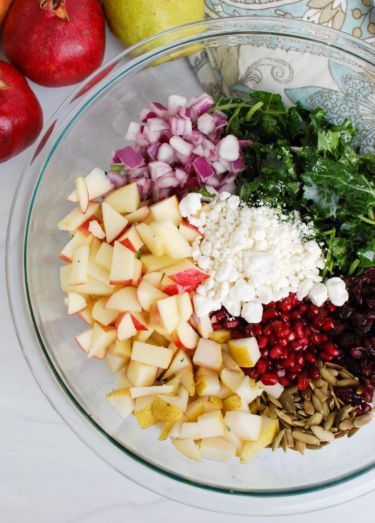 Easy Fall Salad ingredients