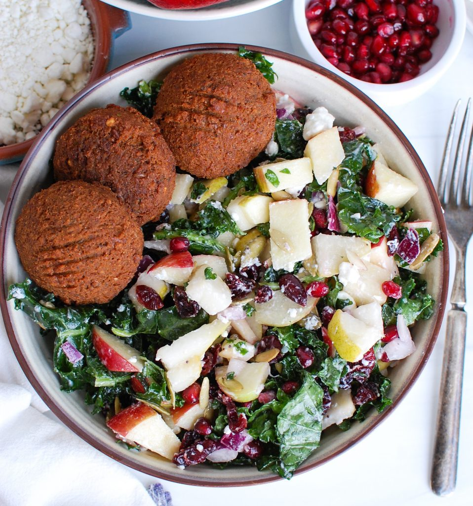 Easy Fall Salad with falafel