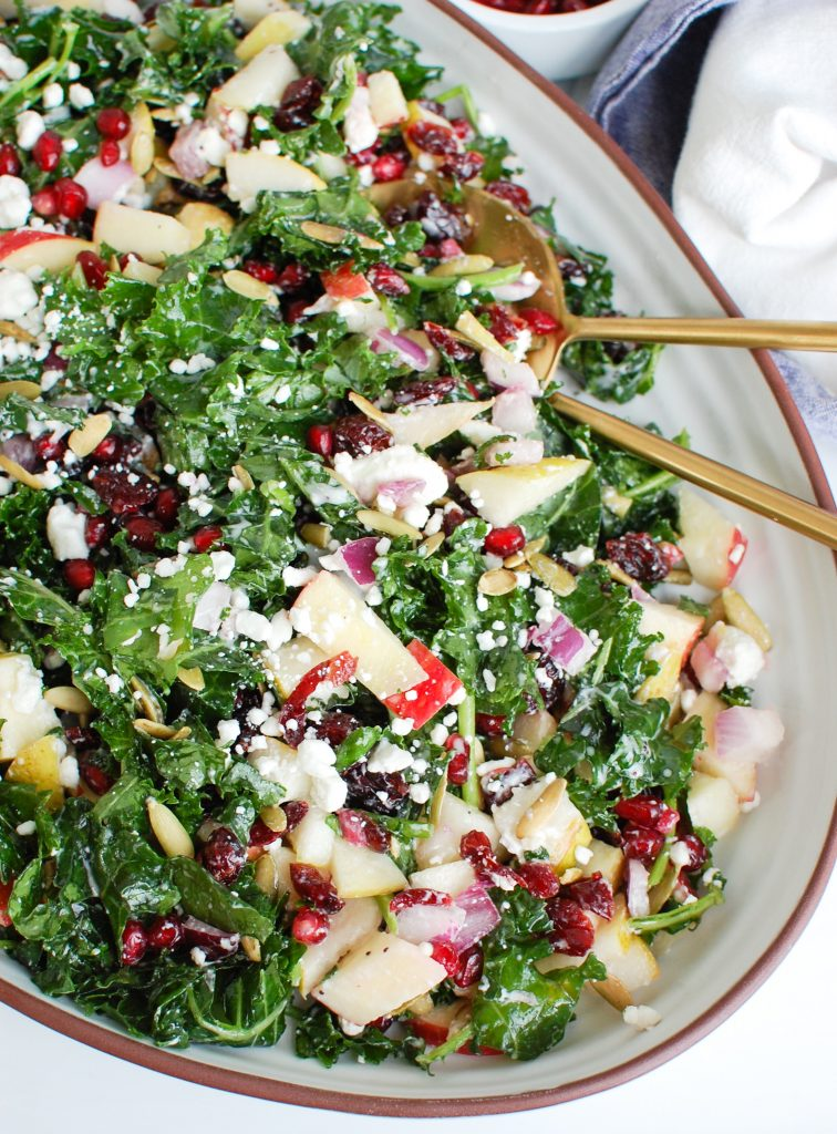 Easy Fall Salad in white dish