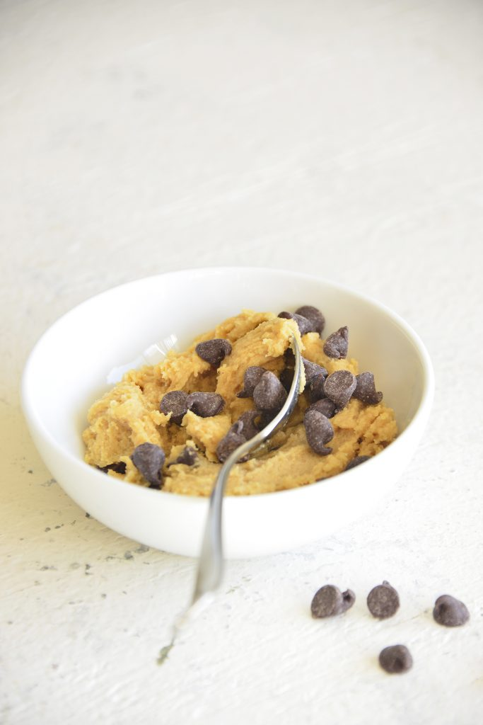 Edible Cookie Dough with spoon