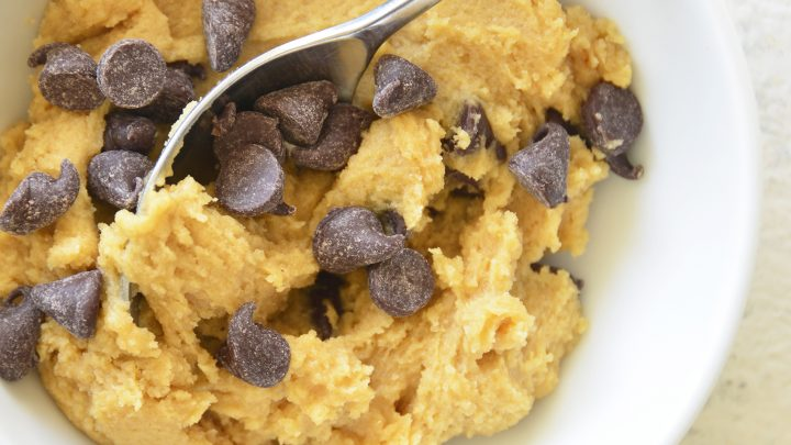 Edible Cookie Dough for One in a white bowl