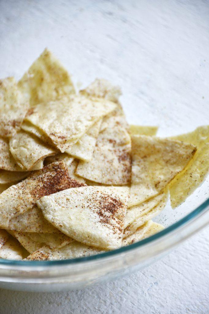 Homemade Baked Tortilla Chips Step 3