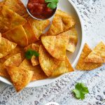 Homemade Baked Tortilla Chips with Logo