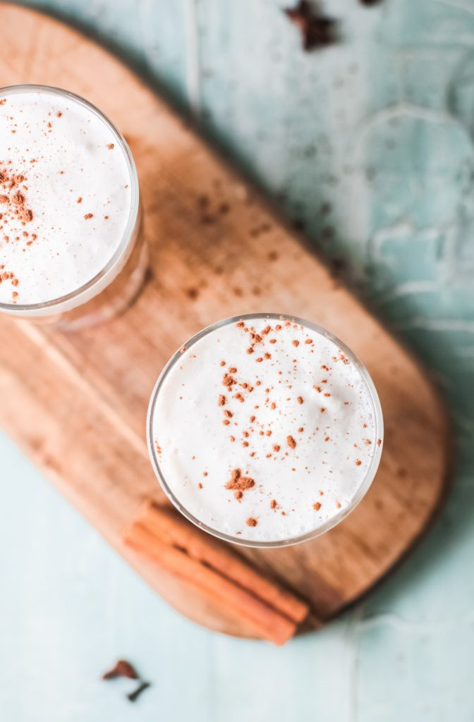 Instant Pot Chai Tea Latte above shot