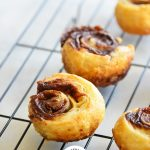 Puff Pastry Cinnamon Rolls with Logo