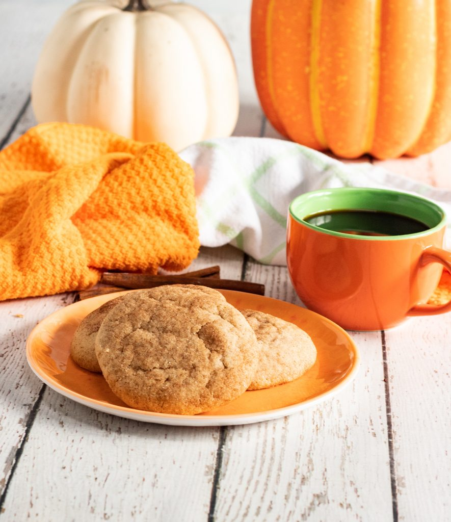 Pumpkin Snickerdoodles with coffee
