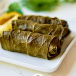 Stuffed Grape Leaves with Logo