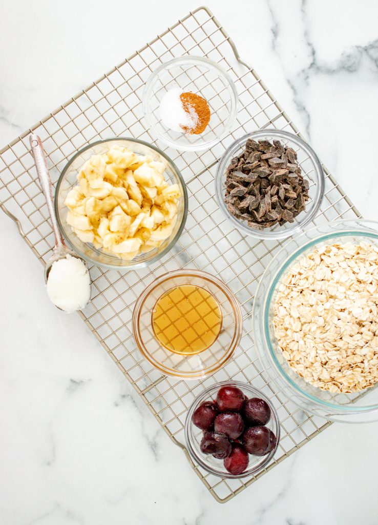 Banana Oatmeal Muffins ingredients