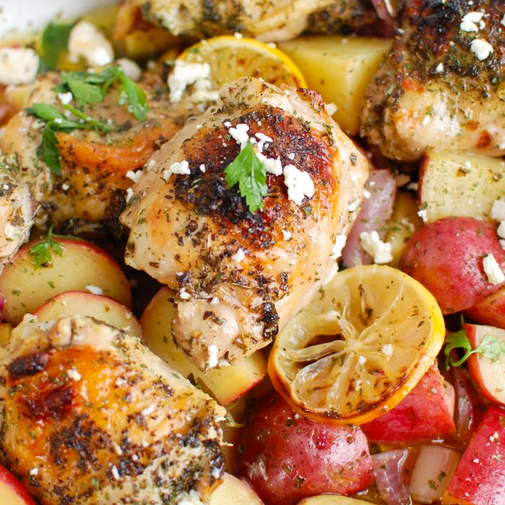 Greek Lemon Chicken close-up