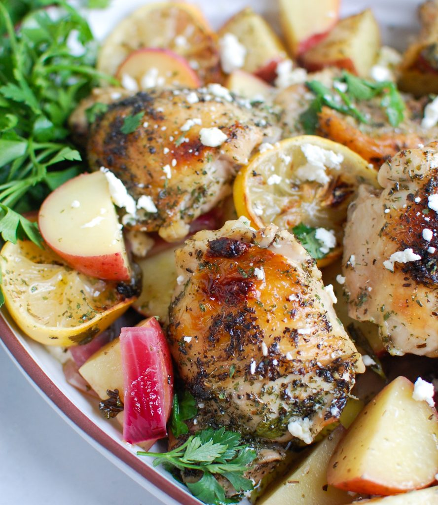 Greek Lemon Chicken on a dish