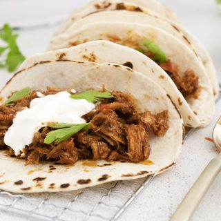 Instant Pot Carnitas Recipe in tacos
