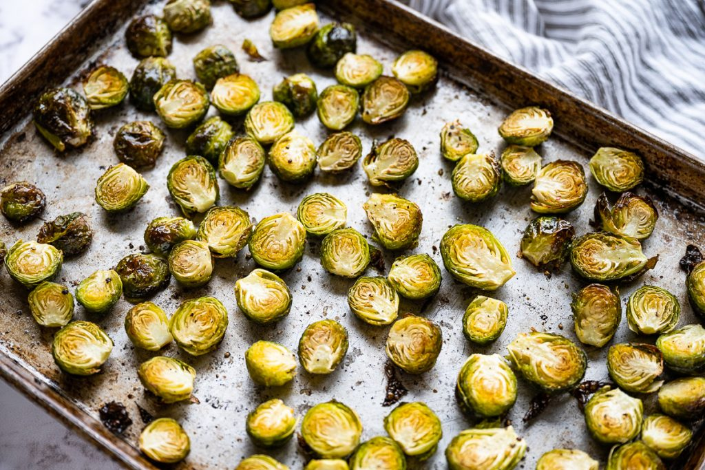Roasted Balsamic Brussels Sprouts roasted