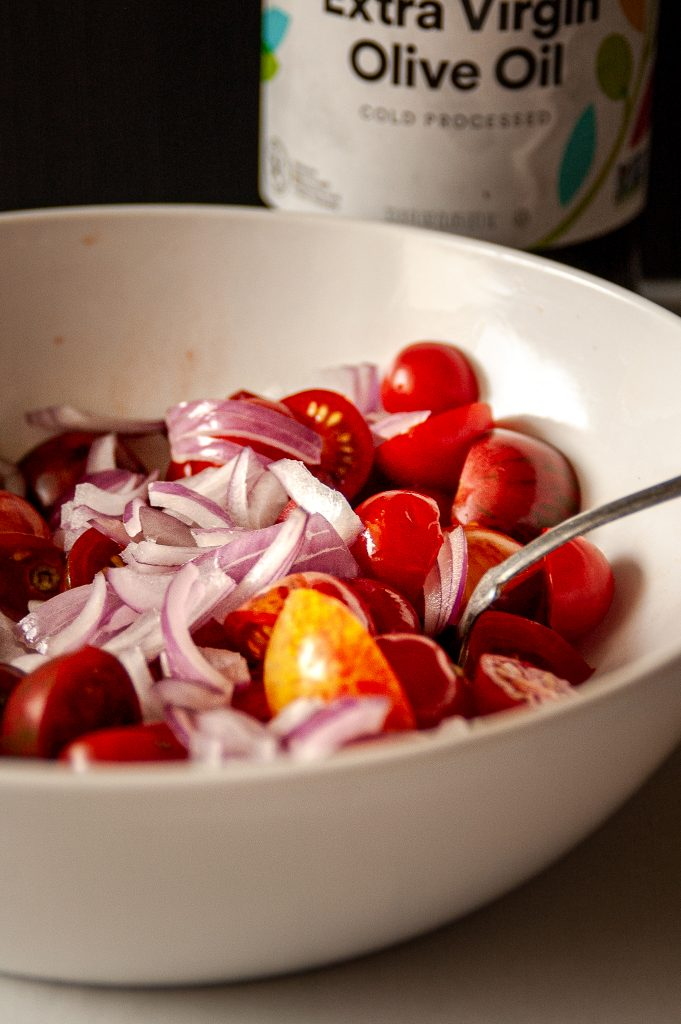 Simple Marinated Tomatoes with onion