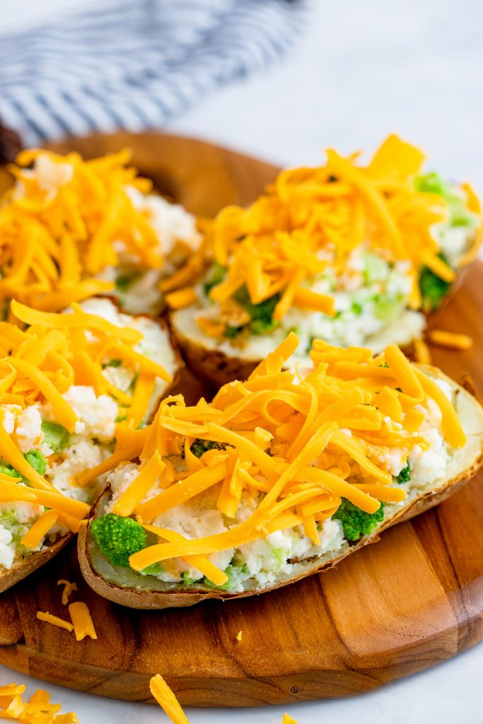 Air Fryer Twice Baked Potato with cheese