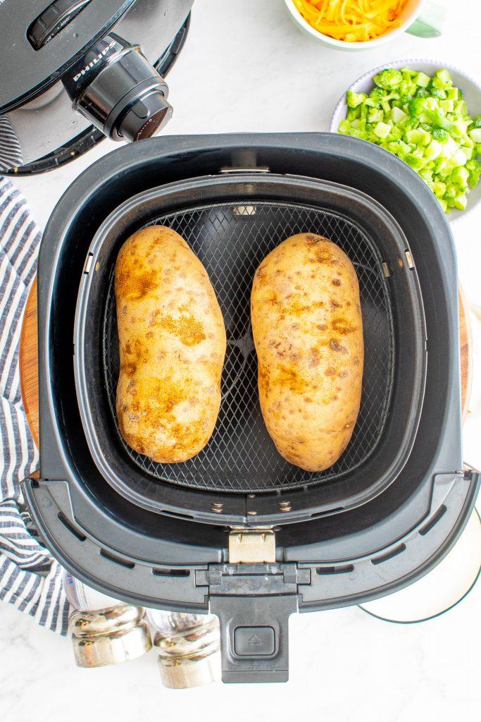 Air Fryer Twice Baked Potato in an air fryer
