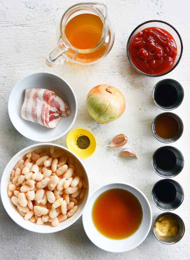 Easy Bacon Baked Beans ingredients