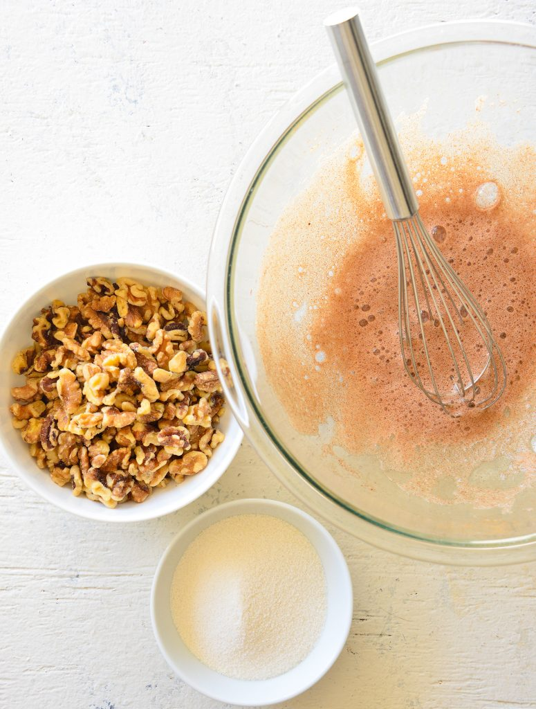 Easy Candied Walnuts whisk