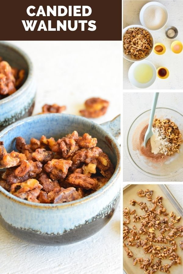 Easy Candied Walnuts collage