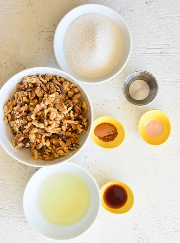 Easy Candied Walnuts ingredients